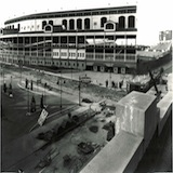 A view of Wrigley Field from Addison and Sheffield in 1937