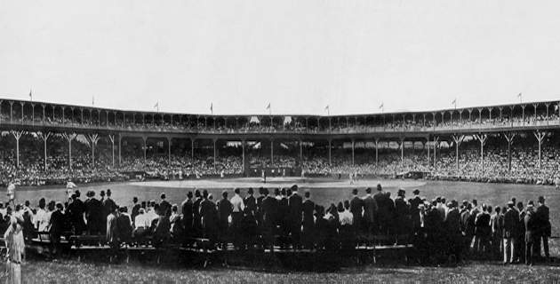 1908 West Side Park tribute to consecutive World Series championships